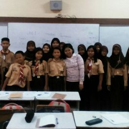 Students class at SMPN 25 jakarta